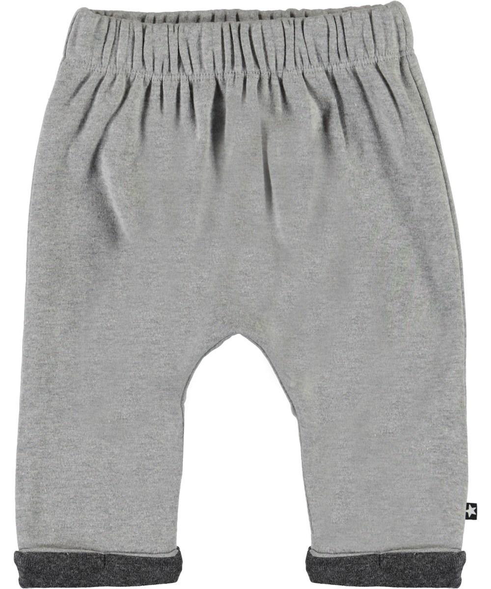 Soyo - Grey Melange - Grey baby sweatpants