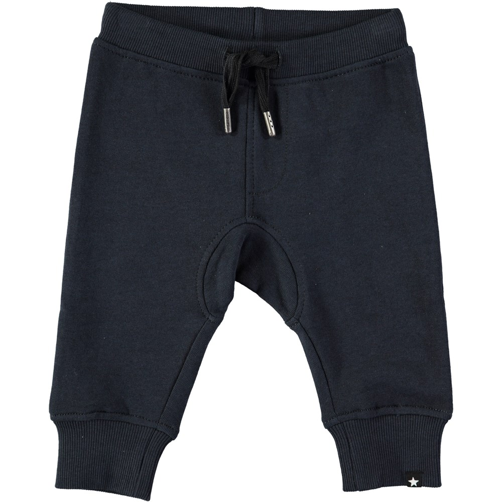 Stan - Dark Navy - Dark blue baby sweatpants