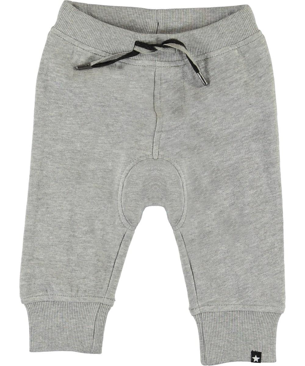 Stan - Grey Melange - Grey baby sweatpants