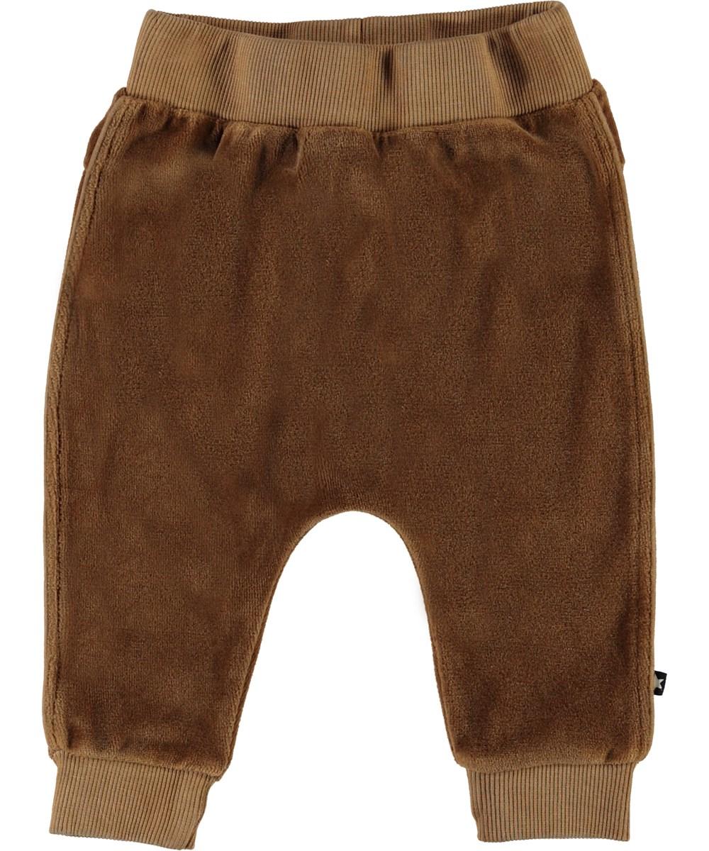 Stein - Emperador - Brown velour baby trousers