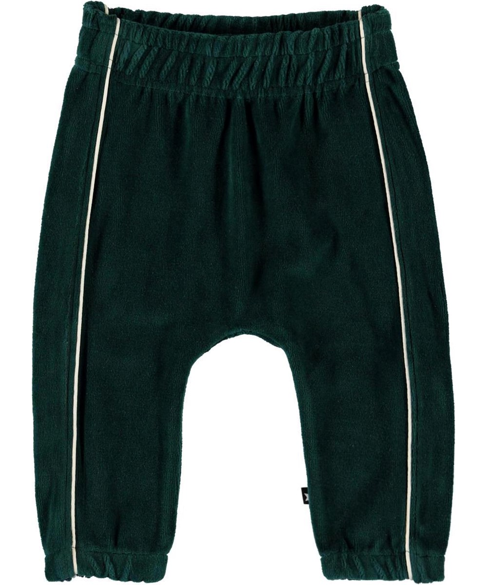 Storm - Night Forest - Green velour baby trousers