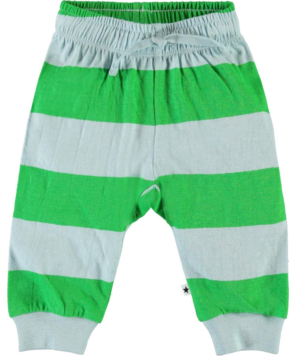 Summ - Sterling Stripe - Blue and green striped baby trousers