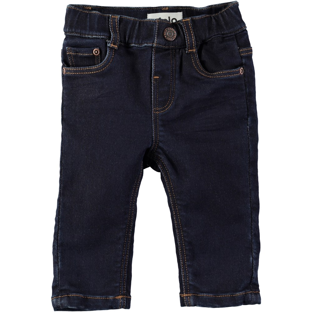 Sven - Rinse Wash - Dark blue baby denim jeans with stretch