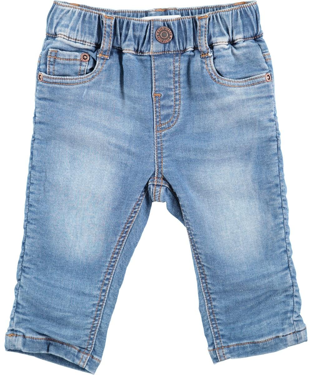 Sven - Soft Denim Blue - Light blue baby denim jeans with stretch