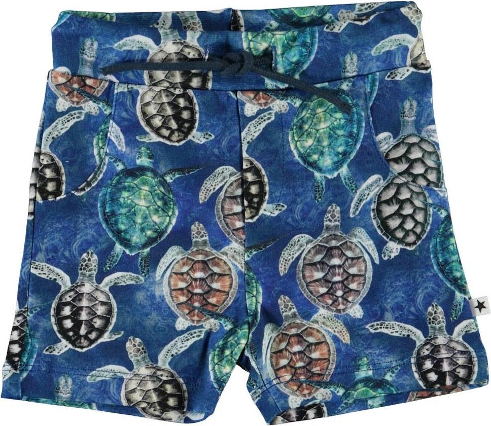 Simroy - Mini Turtles - Organic baby shorts with turtles