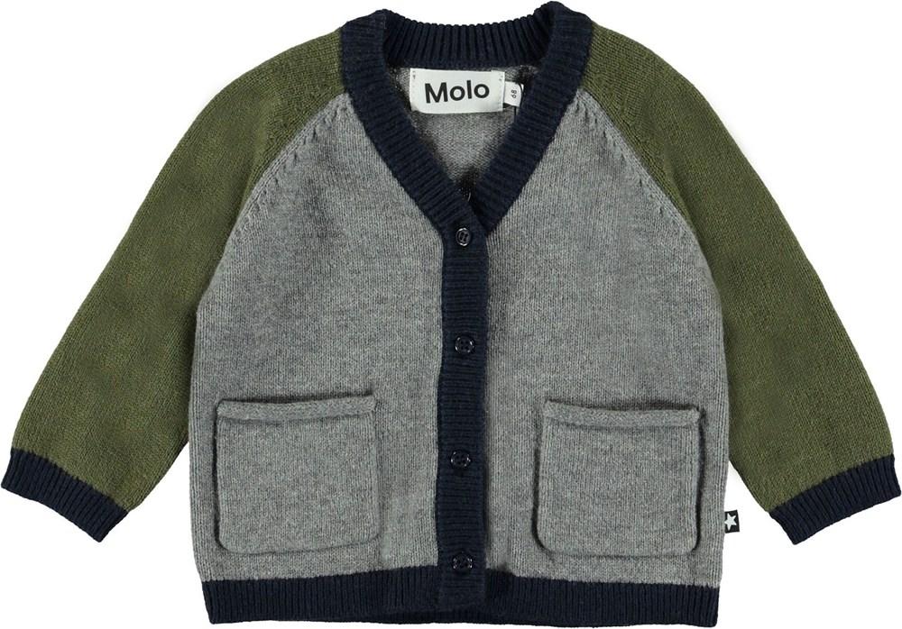 Benjamin - Colour Block - Baby knit cardigan