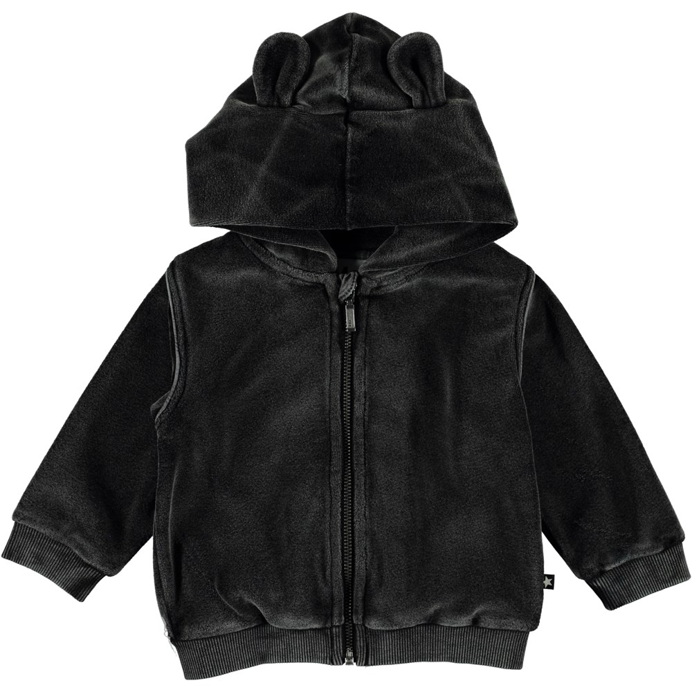 Darko - Pirate Black - Velour baby hoodie.