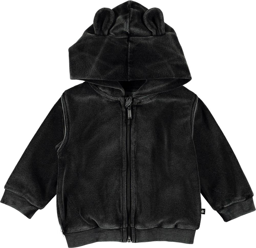 Darko - Pirate Black - Velour baby hoodie.