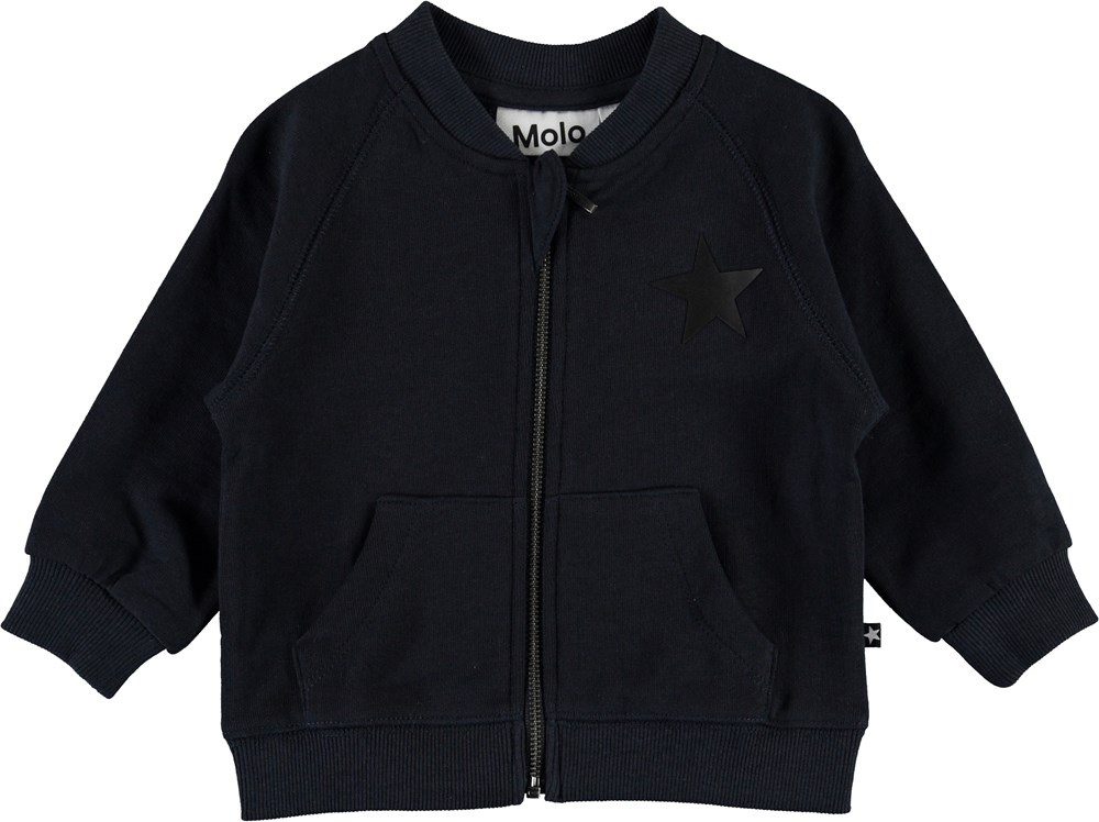 Daylo - Dark Navy - Baby sweatshirt with star