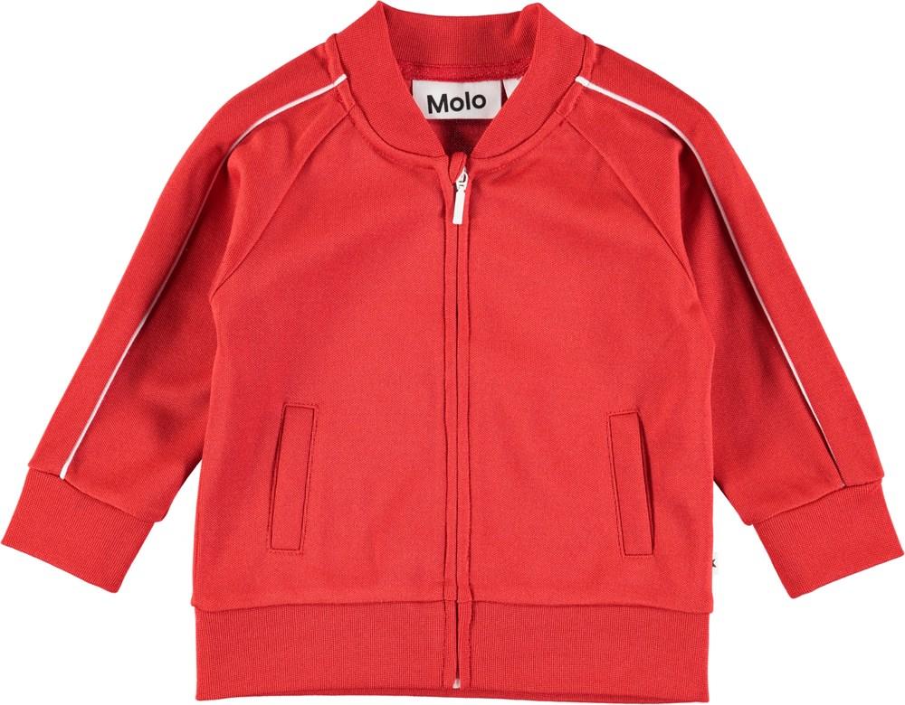 Deep - Heart - Red baby sweatshirt with zipper