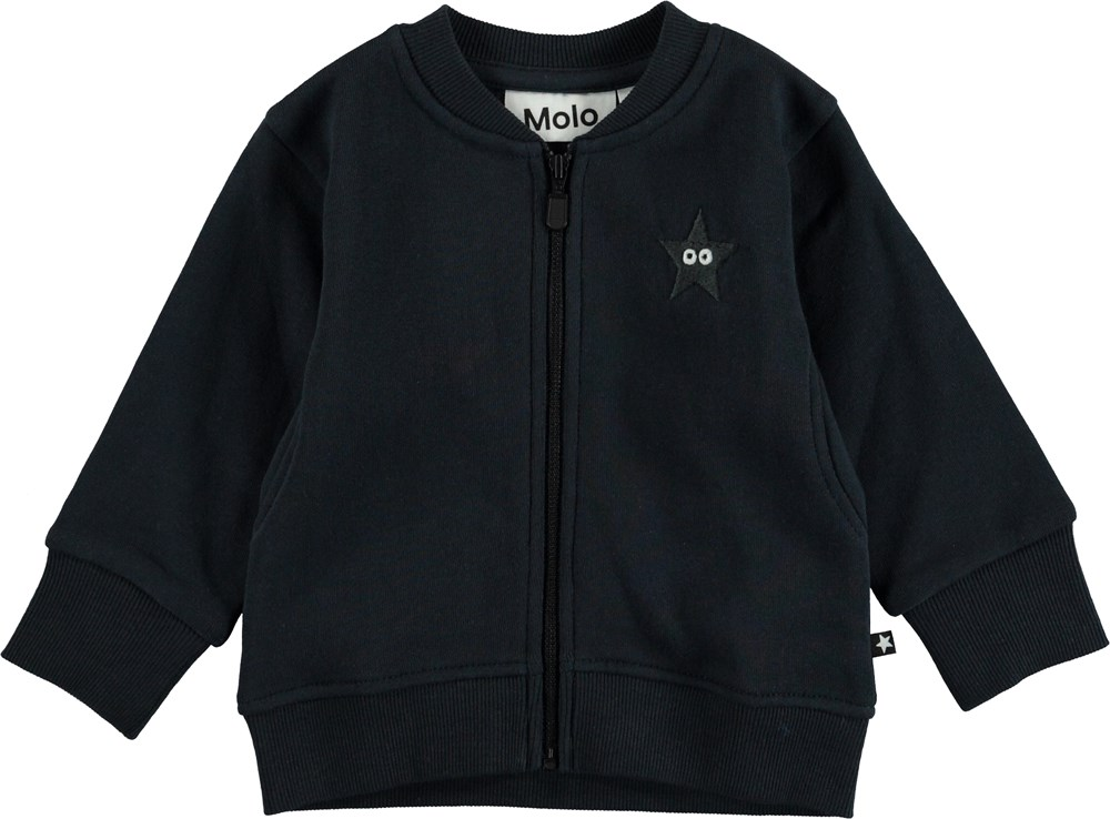 Derek - Carbon - Dark blue baby sweatshirt.