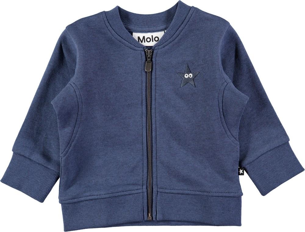 Derek - Infinity - Black baby sweatshirt with zipper