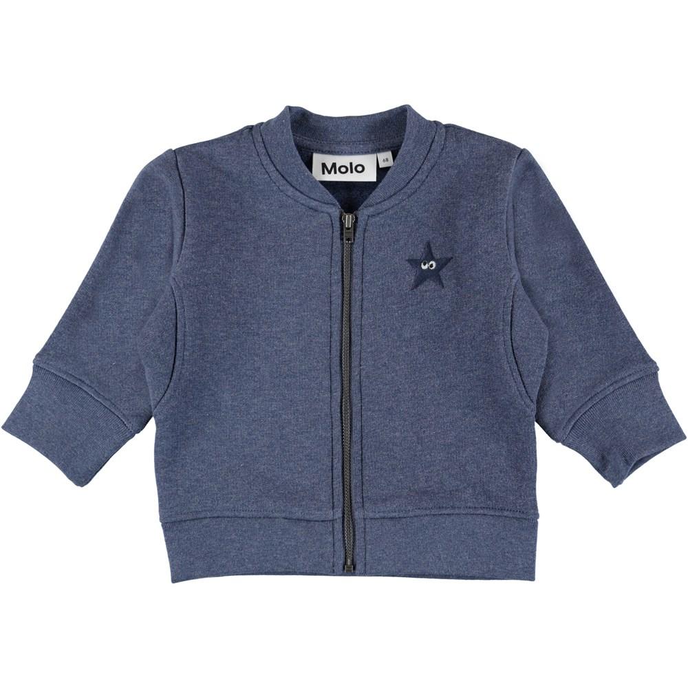 Derek - Infinity Melange - Blue baby sweatshirt.