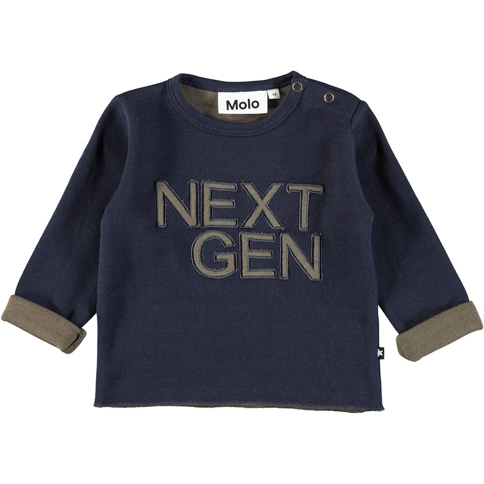 Dew - Dark Navy - Dark blue, coarse weave baby top