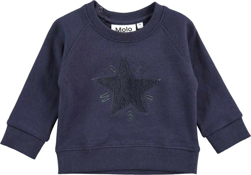 Dines - Navy Blazer - Sweatshirt with stars