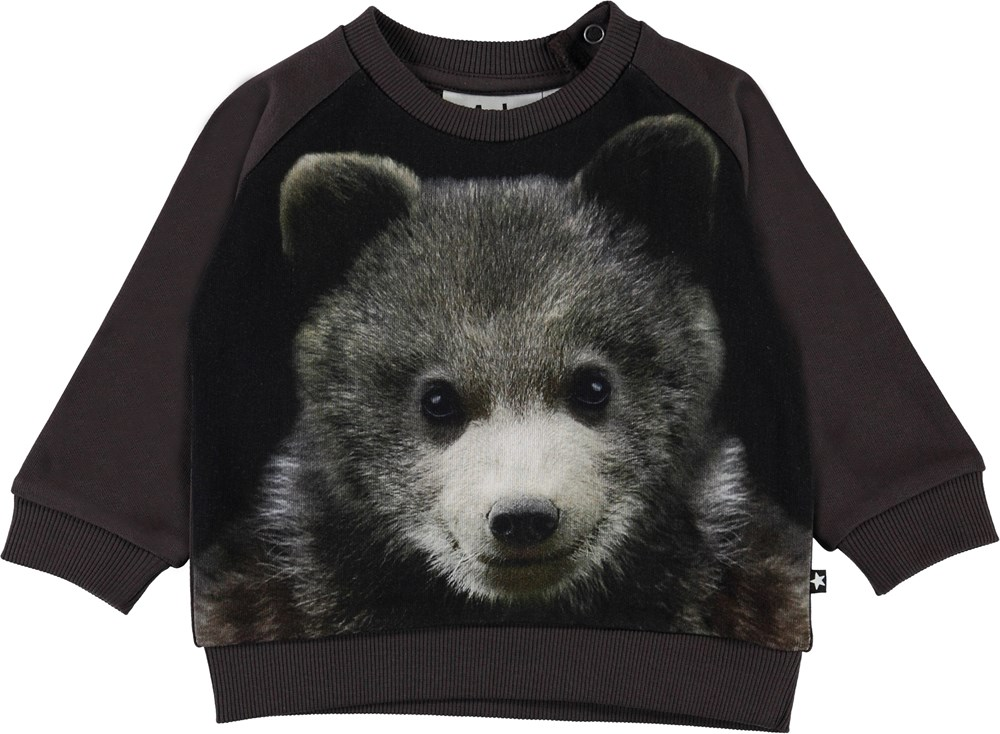 Disco - Bear Cub - Organic baby top with bear