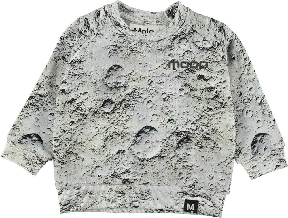 Disco - Moon - Grey baby sweatshirt.