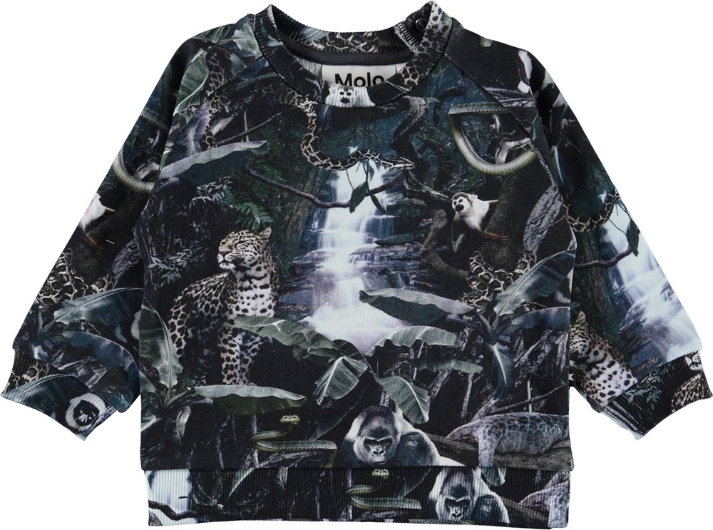 Disco - Moonlit Jungle - Organic baby top with animals