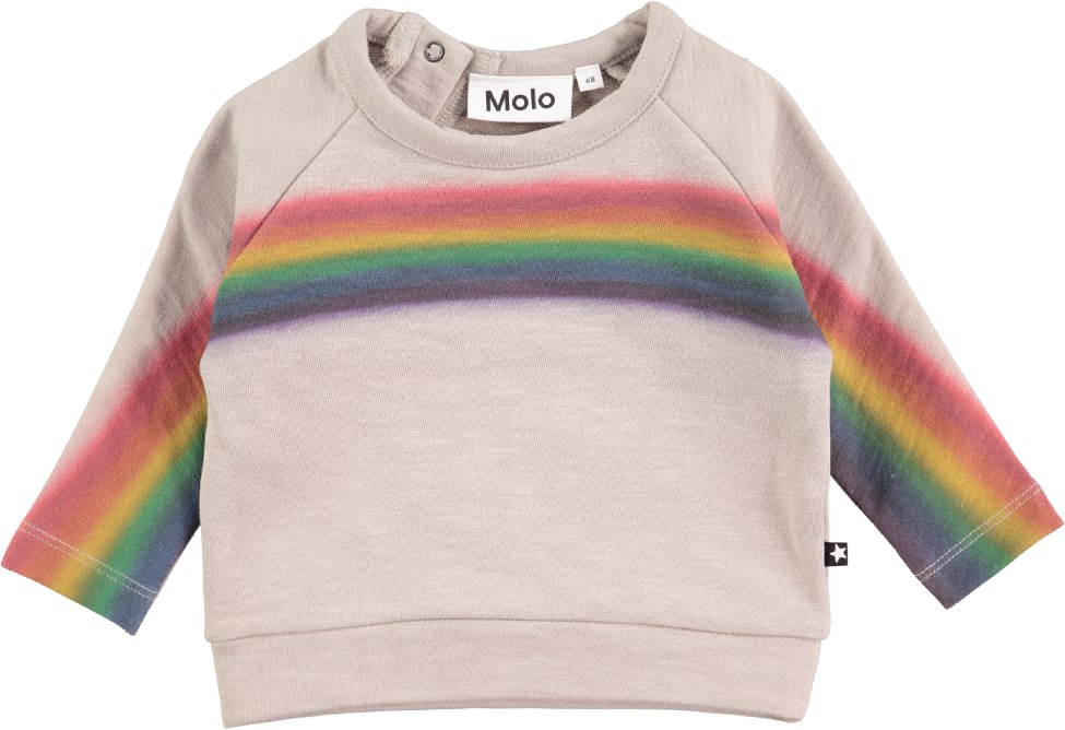 Do - Laid Back - Baby sweatshirt with rainbow