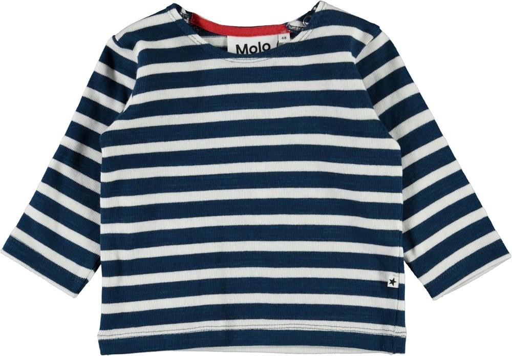 Dosti - Sea Breton - Blue and white striped baby top