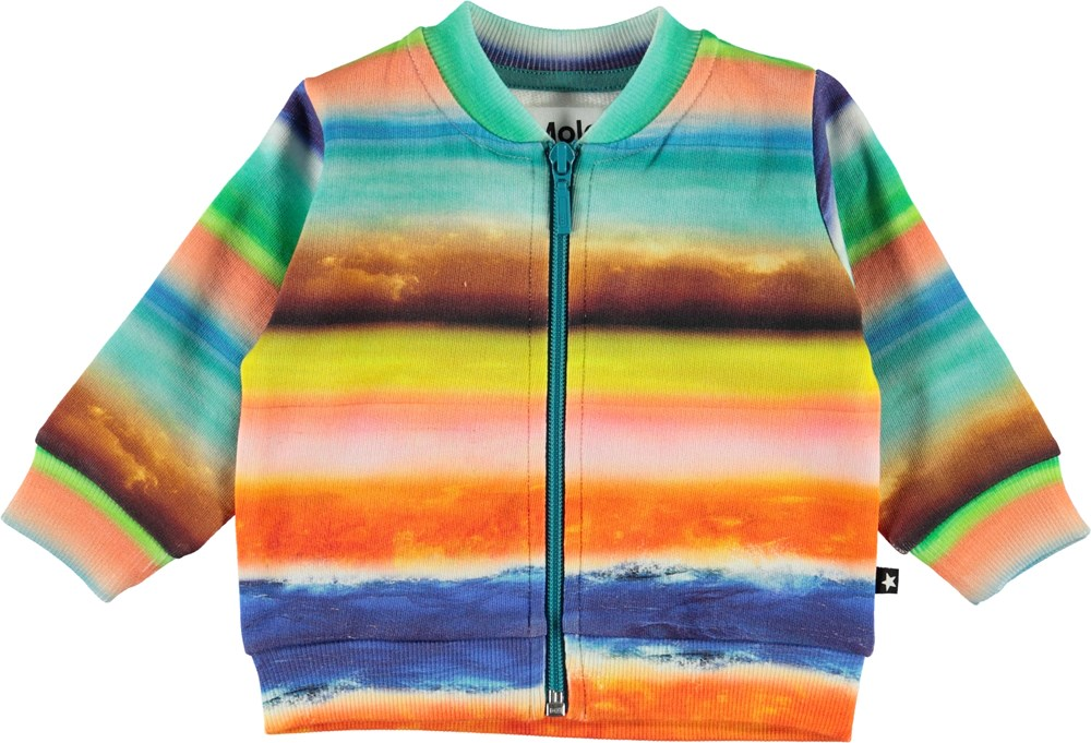 Duff - Sunset Stripe - Baby sweatshirt with colourful stripes