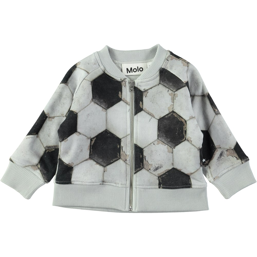 Sear - Football Structure - Baby sweatshirt with zipper and football print