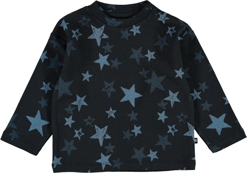Eki - Stars - Blue organic baby top with stars
