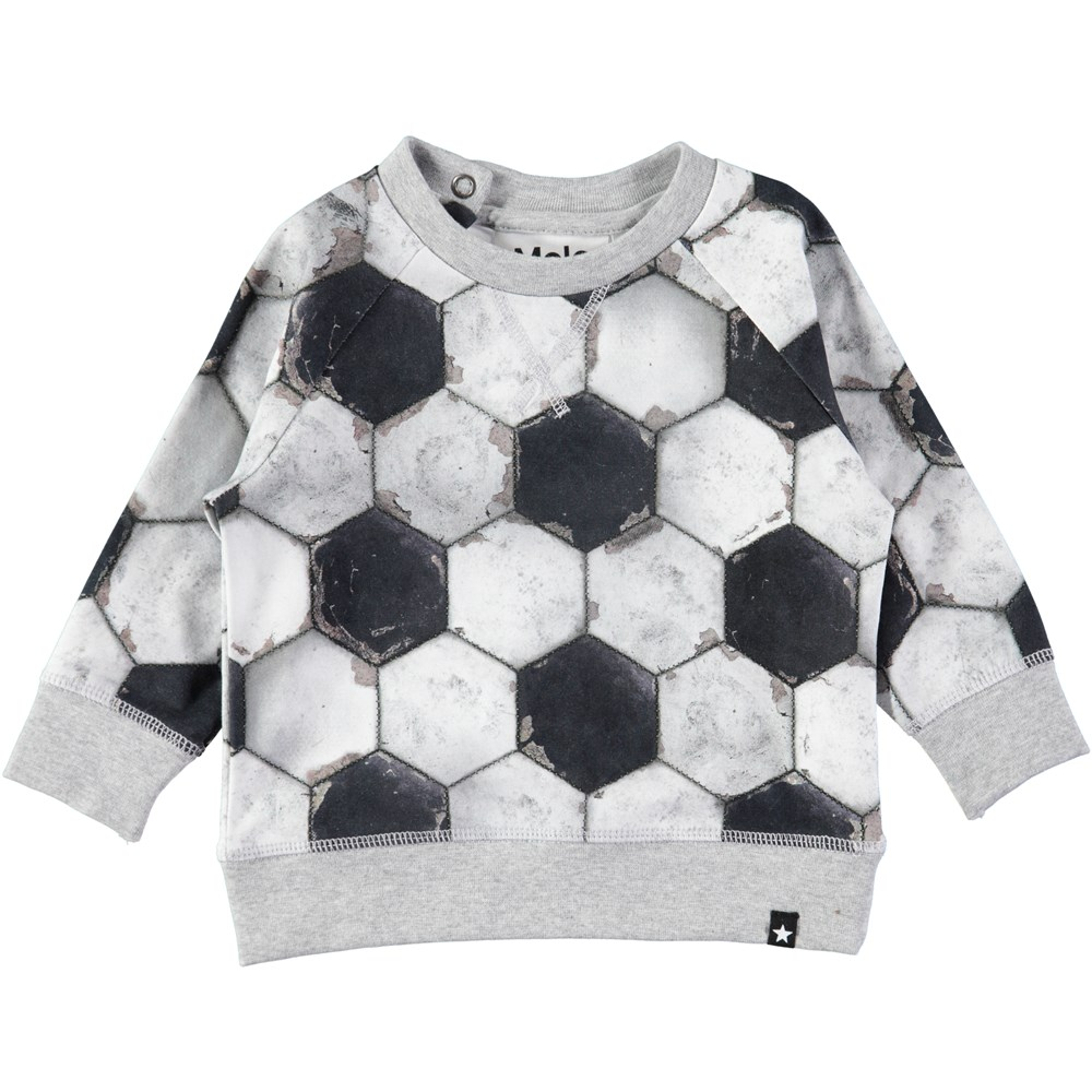 Elmo - Football Structure - Long sleeve baby top in a sweatshirt look with football print