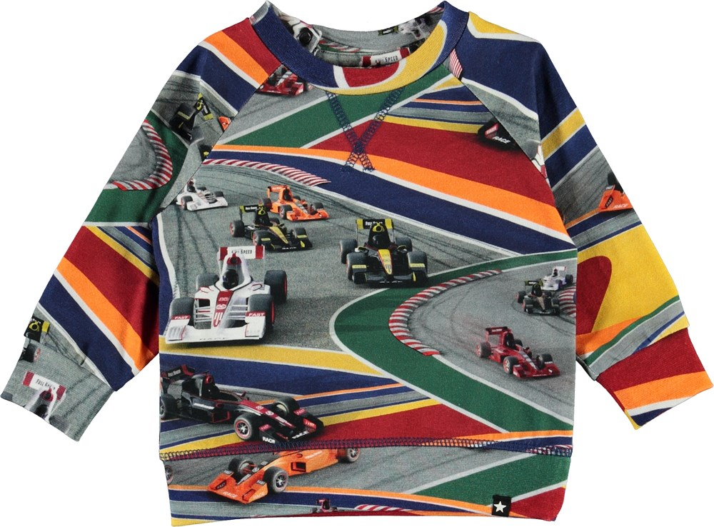 Elmo - Full Speed - Organic baby top with cars