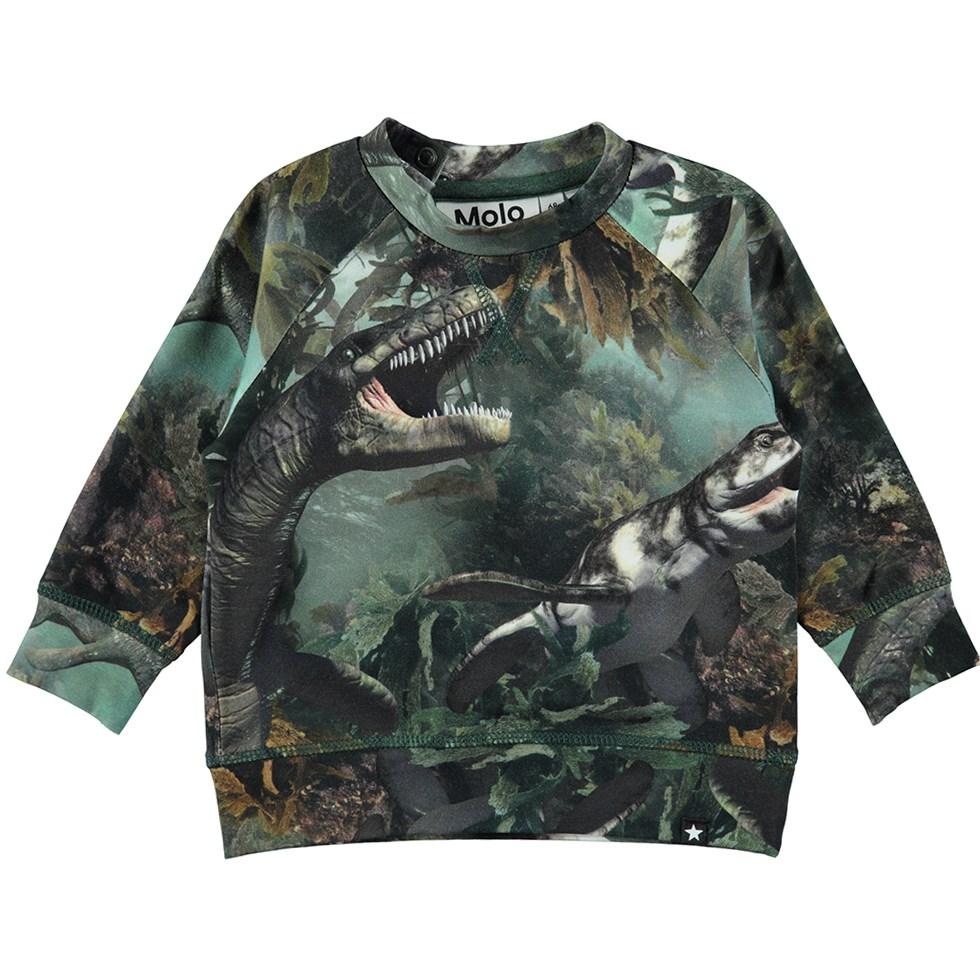Elmo - Lake Monters - Long sleeve baby top in a sweatshirt look with sea animal print
