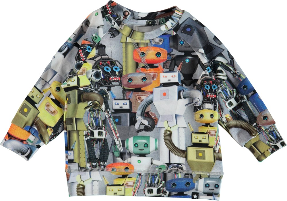 Elmo - Robots - Long sleeve baby t-shirt with robots.