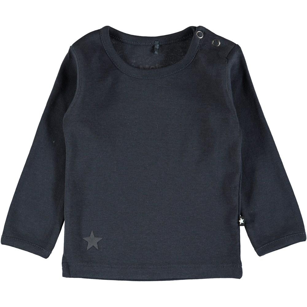 Elo - Dark Navy - Dark blue basic baby top