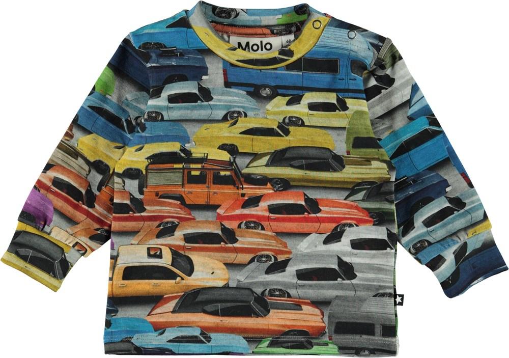 Eloy - Cars - Organic baby sweatshirt with cars