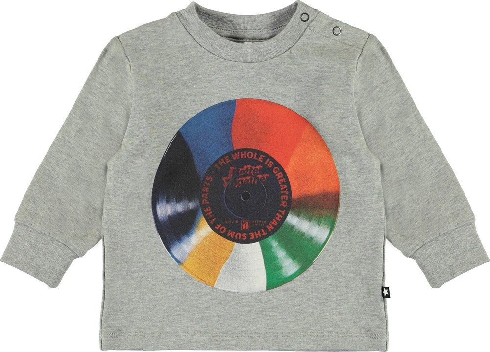 Eloy - Coloured Record Baby - Organic baby sweatshirt with LP
