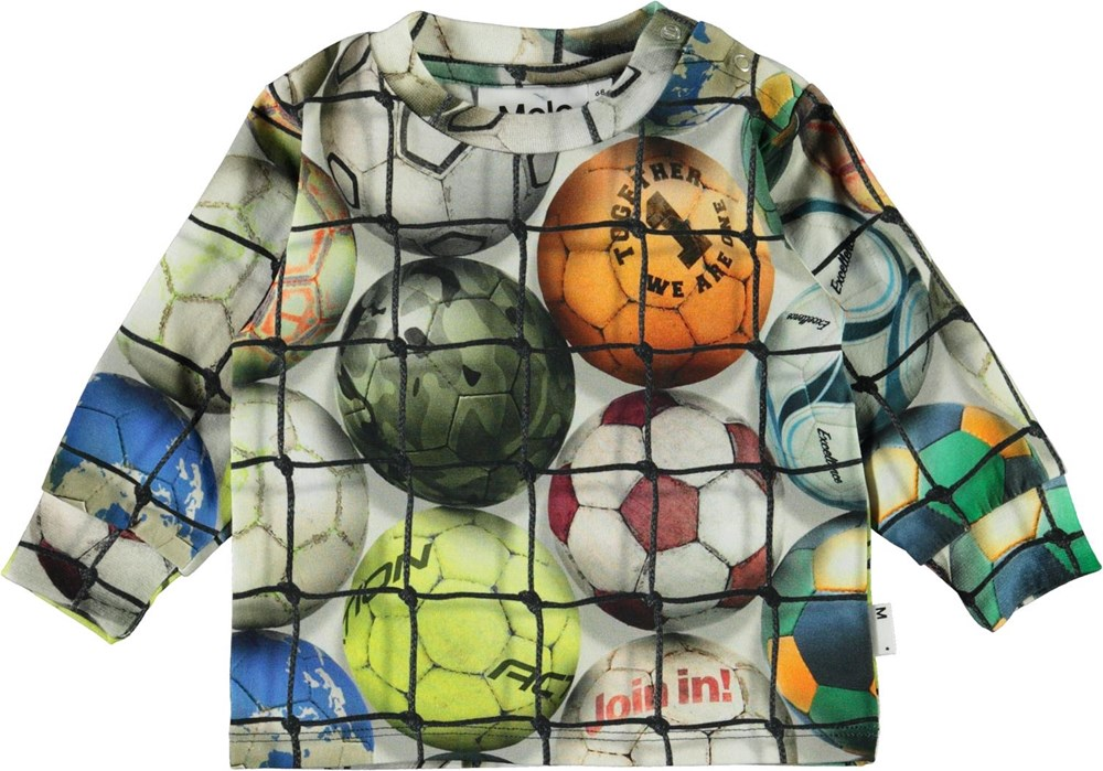 Eloy - Footballs - Organic baby top with footballs