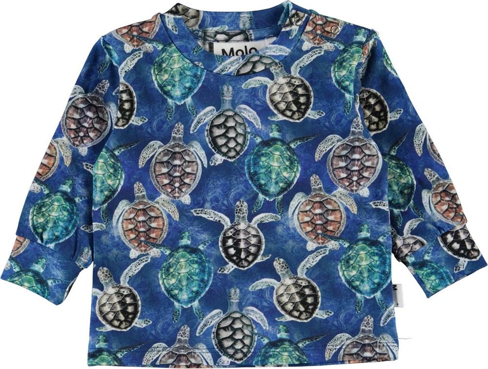 Eloy - Mini Turtles - Organic baby top with turtles