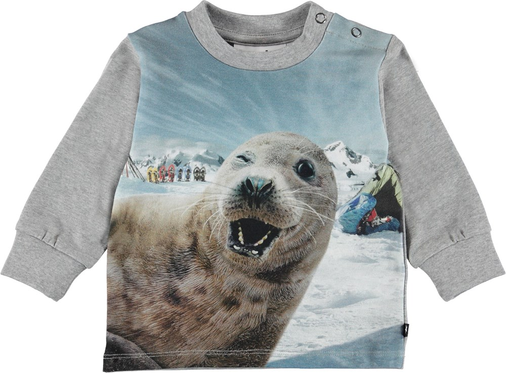 Eloy - Seal-Fie - Baby top with seal.