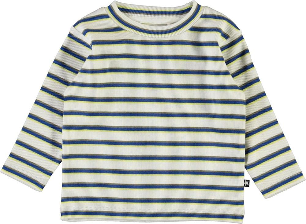 Elvo - 4 Colour Stripe - Organic striped baby top