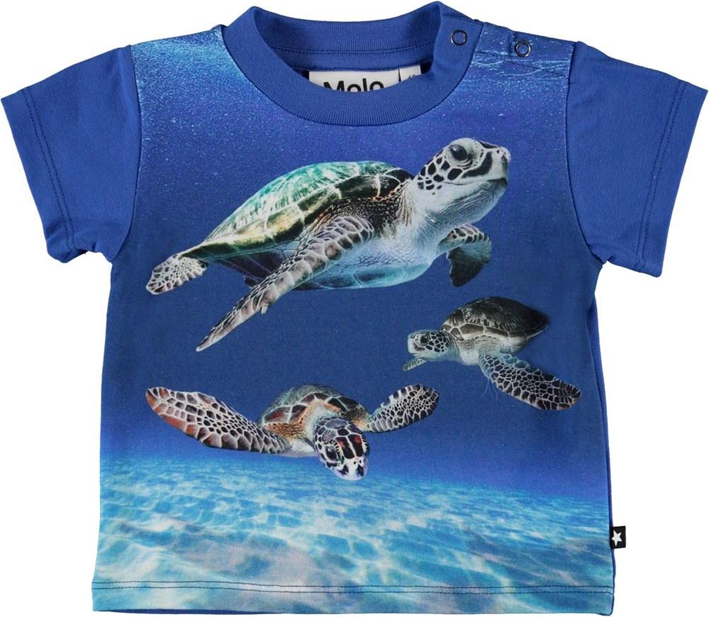 Emilio - Baby Turtles - Organic baby t-shirt with turtles