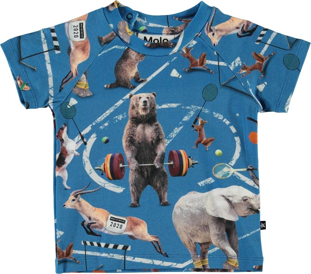 Emmett - Athletic Animals - Organic baby t-shirt with animals