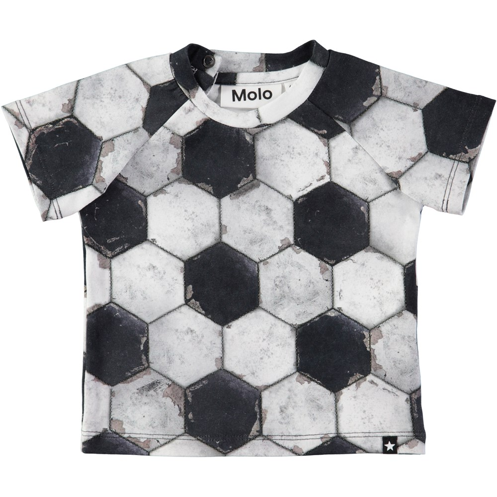 Emmett - Football Structure - Baby t-shirt with football print