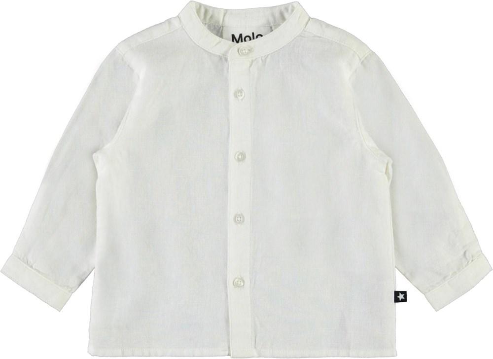 Eno - White Star - White baby shirt