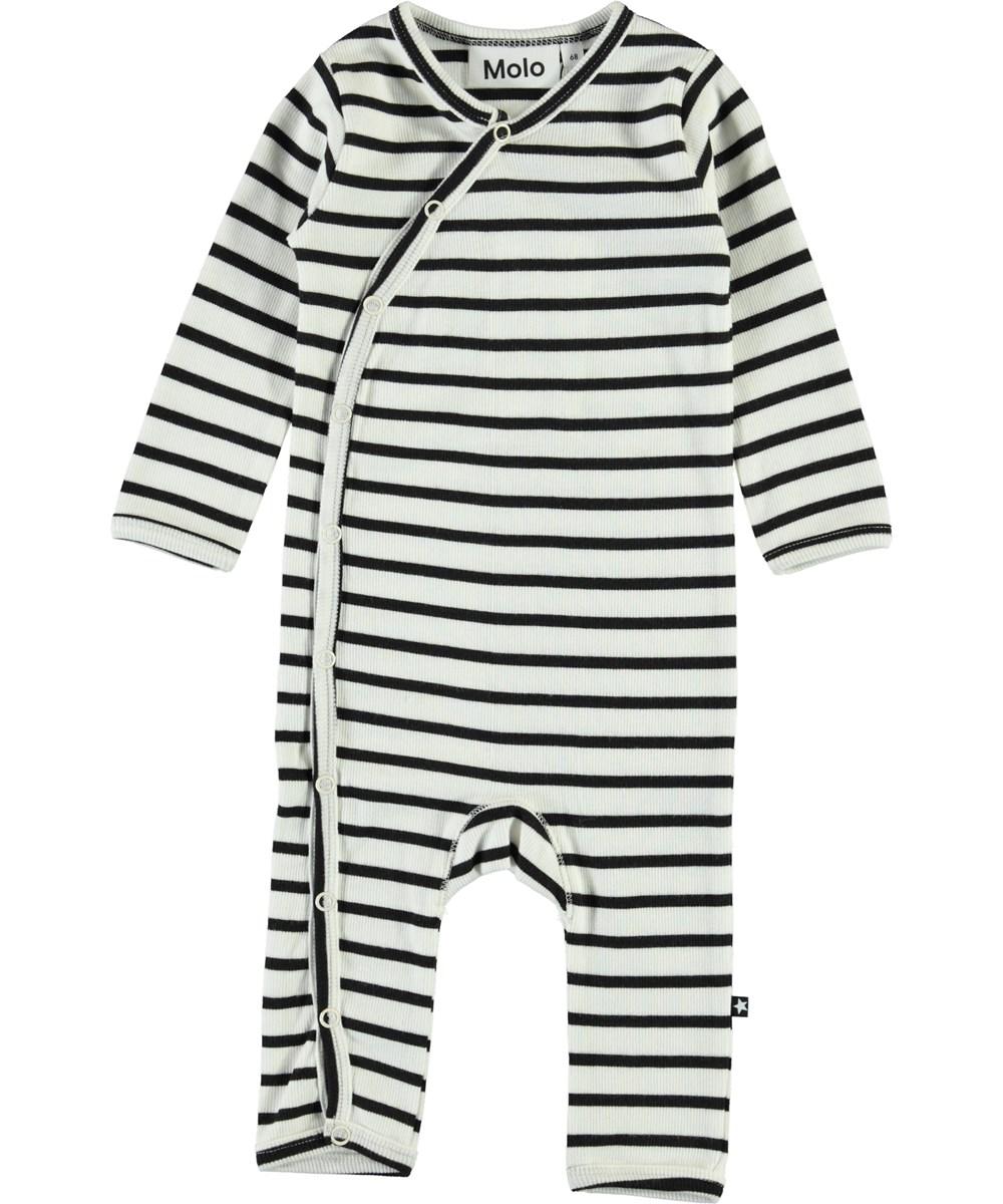 Fellow - Black Stripe - Breton stribet baby body
