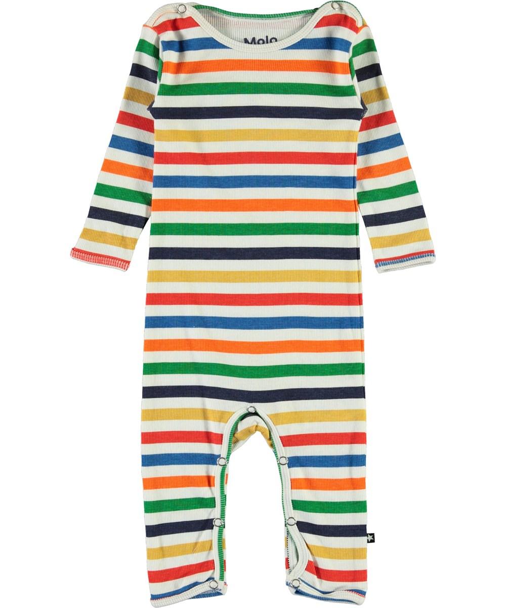 Fenez - Multi Colour - Stribet multifarvet baby body