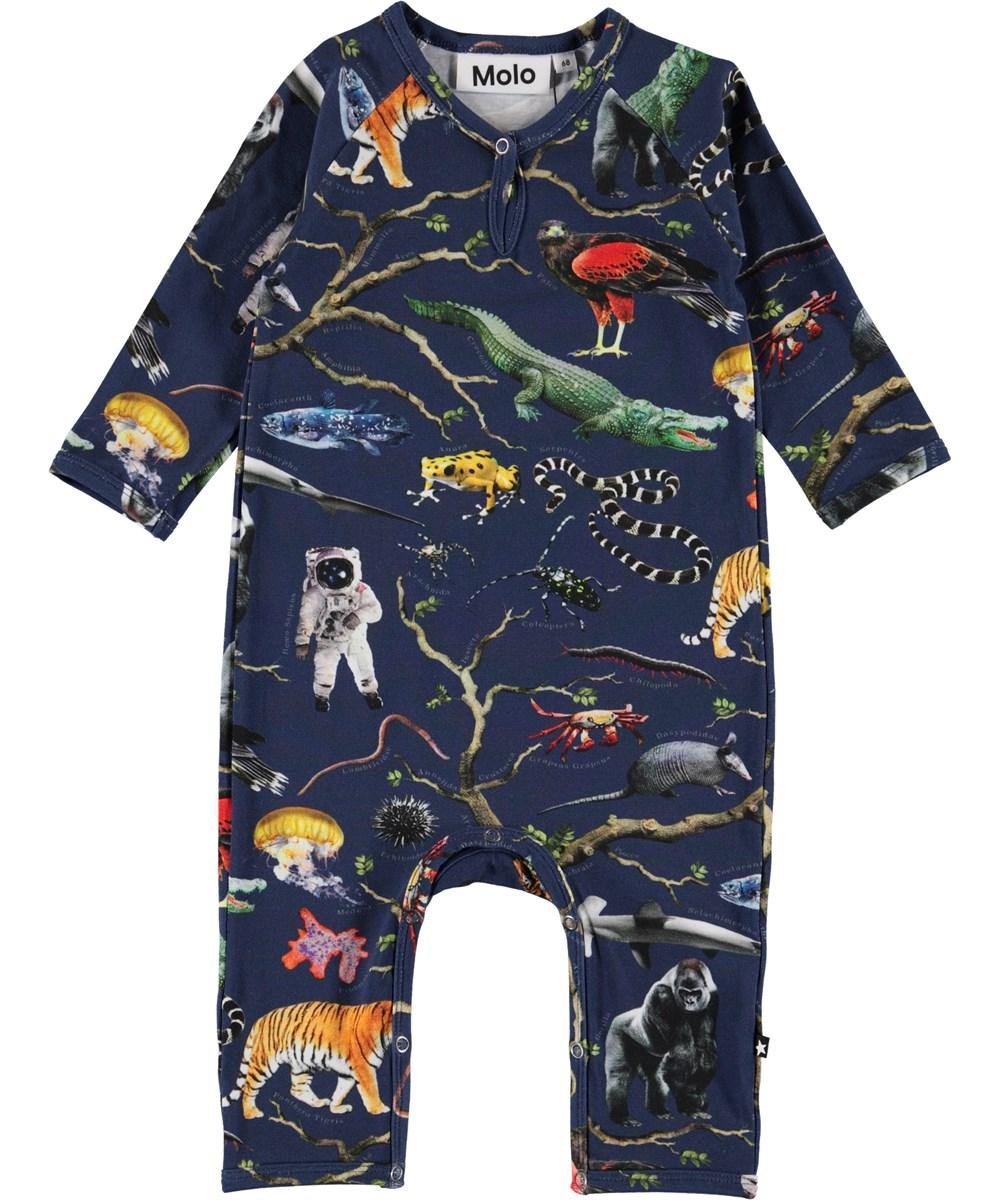 Fleming - Tree Of Life - Økologisk baby body med træ og dyr