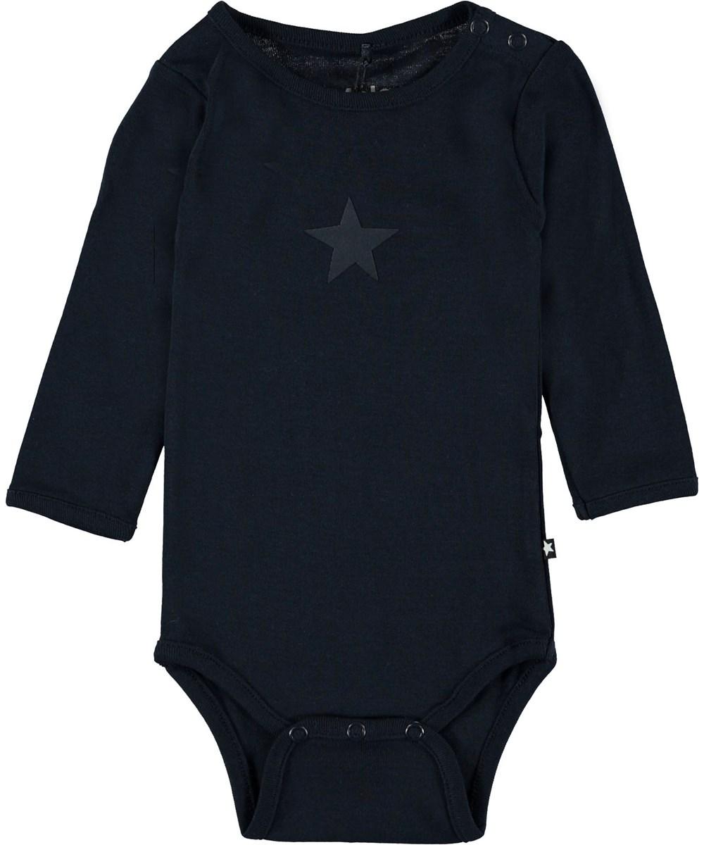 Foss - Carbon - Mørkeblå baby body.