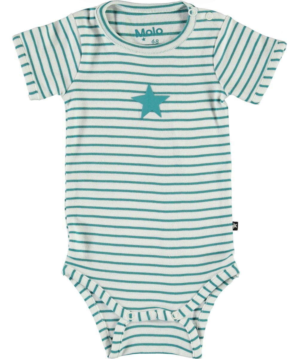 Fossie - Kerosene Stripe - Stribet økologisk baby body