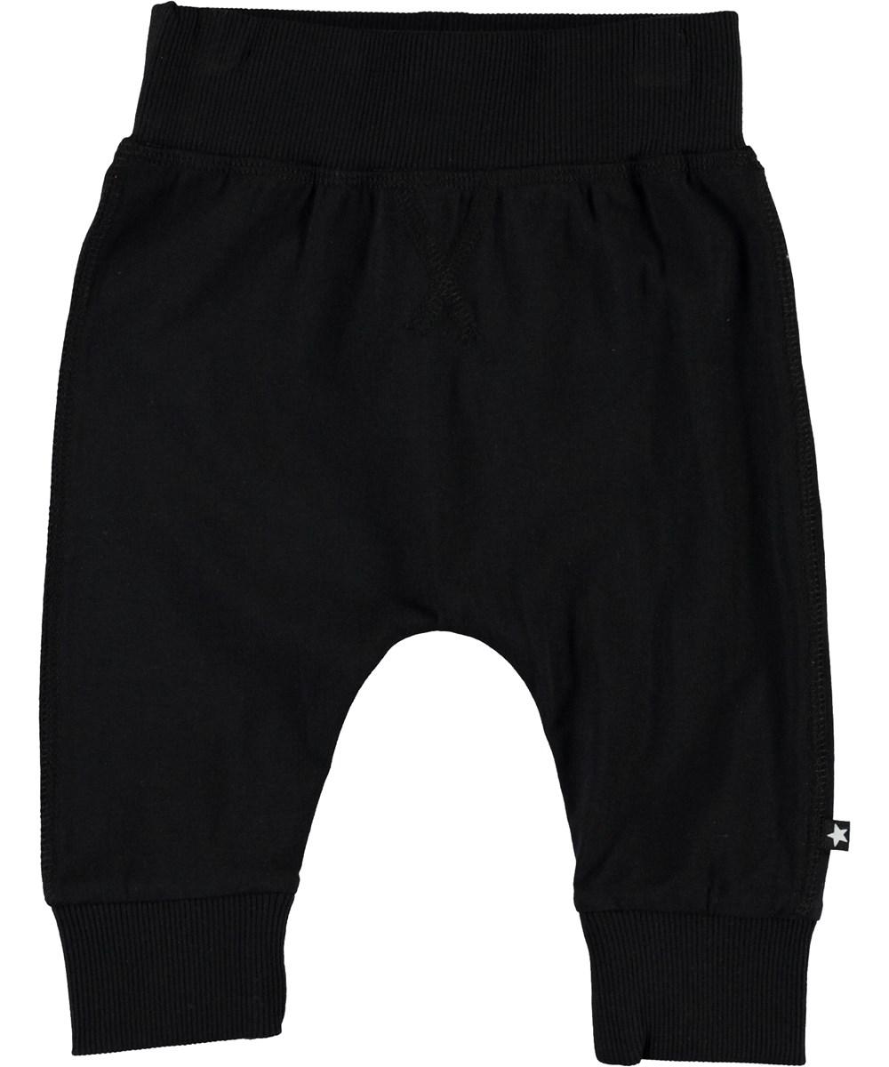 Sammy - Black - Økologiske sorte baby bukser