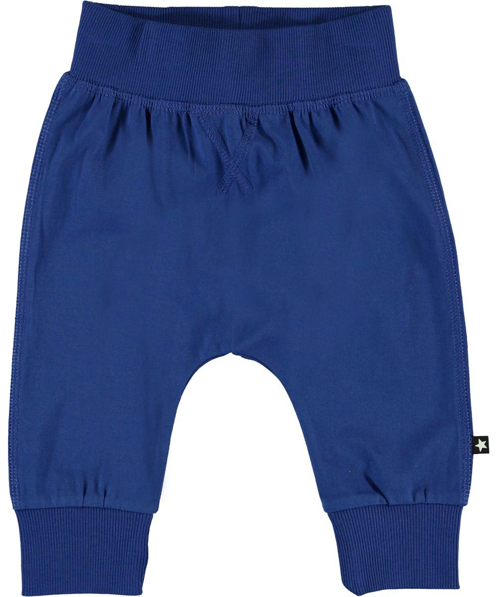 Sammy - Royal Blue - Økologiske blå baby bukser
