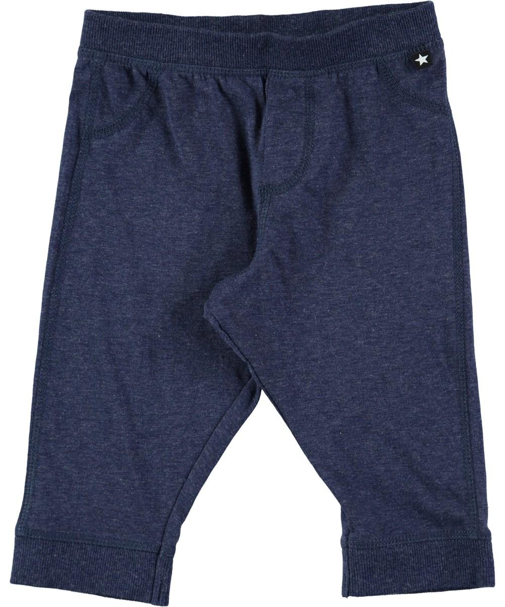 Scott - Infinity Melange - Mørkeblå baby bukser